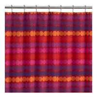 Marimekko Räsymatto Red Shower Curtain in Back to School | Crate&Barrel