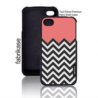Coral Plus Chevron iPhone 4 Case Fits iPhone 4s / iPhone 4 Case, iPhone 4 Hard Case