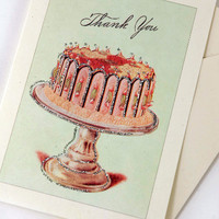 Thank You Cards by Cavallini & Co.  Glitter Sweets in tin