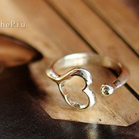 Buy 3 Get One Free Heart Adjustable Ring n4293 by ThePiu on Etsy
