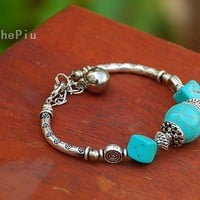 Buy 3 Get One Free Natural Stripe Turquoise Beads by ThePiu