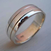 Mens Ring Mens Band Wedding Ring on Luulla