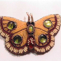 Gypsy Butterfly Bead Embroidered barrette