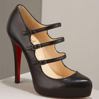 Christian Louboutin Three-strap black mary jane - $184.00