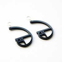 golden ratio spiral acrylic earrings by plastique on Etsy