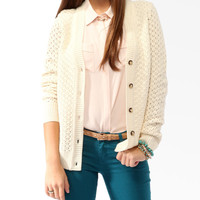 Chunky Mixed Knit Cardigan