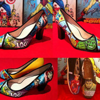 AVENGERS SHOES - Custom Handpainted Fan Shoes