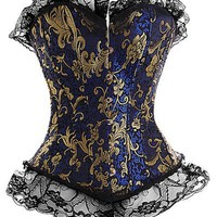Blue and Gold Corset Top - Low Price Corset Tops - Corsets - Love Burlesque - Stylehive