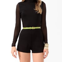 Mesh Panel Romper