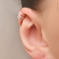 Ear Cuff, No Pierce - Silver Plated