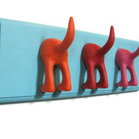 3 Dog Tails Leash Holder or Coat Rack
