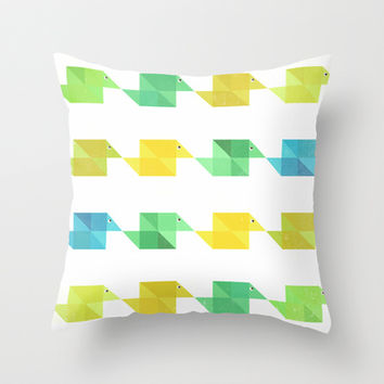 Duck pattern Throw Pillow by SensualPatterns