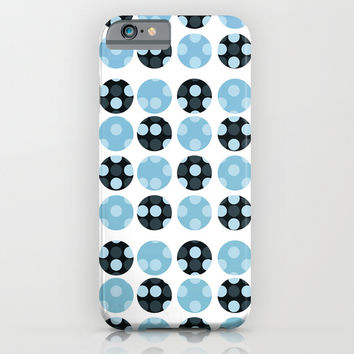 dots background with blue colors iPhone & iPod Case by VanessaGF