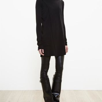 Hooded Cotton Wrap Coat - RICK OWENS