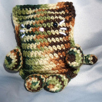 Amigurumi Kitty Crochet Cat Camouflage Print
