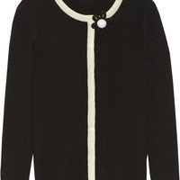 Moschino Cheap and Chic Two-tone wool cardigan – 65% at THE OUTNET.COM