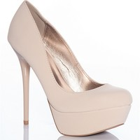 Qupid Dress To The Nines Daydream-36 High Heel Stiletto Pumps - Nude