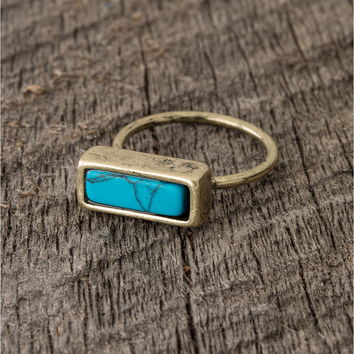 turquoise stone ring - Lacey Ryan Collection