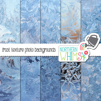 Frost Texture Digital Paper Pack – photographic frost images for stock use, graphic design, scrapbooking, websites – instant download– CU OK