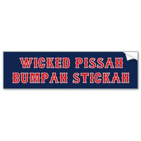 Wicked Pissah Bumpah Stickah Bumper Sticker from Zazzle.com