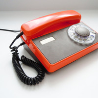Vintage Soviet era dial rotary telephone.