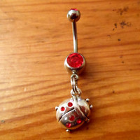 Ladybug Belly Button Ring