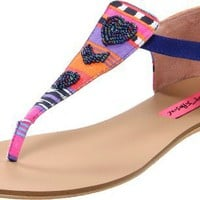 Betsey Johnson Women&#x27;s Bachi Thong Sandal
