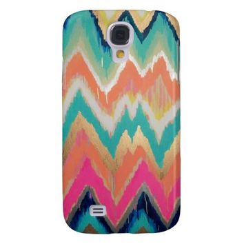 Watercolor Bright Chevron Zig Zag Stripe Pattern Samsung Galaxy S4 Cover