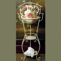 Pink Rose Victorian Style Wash Stand