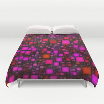 Post It Pink Glow Duvet Cover by Alice Gosling