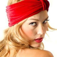 Velvet Turban Flapper Style Headband Headwrap Ear Warmer