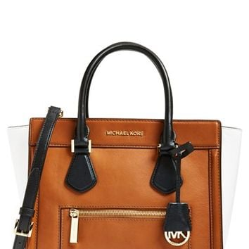 Women's MICHAEL Michael Kors 'Colette - Large' Leather Satchel