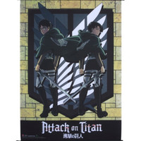 Attack On Titan Levi & Eren Scouting League Wall Scroll