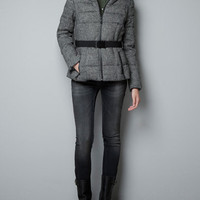 SHORT TWEED PUFFER JACKET - Woman - New this week - ZARA United States