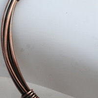 Copper Wire Wrapped Bangle (16 Gauge)