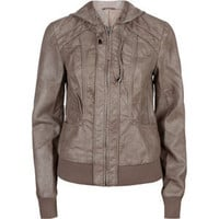 DESTINED Vanessa Womens Faux Leather Hooded Jacket 201471400 | Jackets | Tillys.com