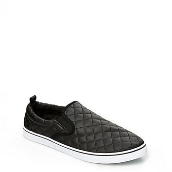 Quilted Faux Leather Skate Shoe