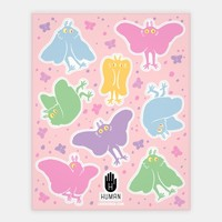 Cute Pastel Mothman Stickers