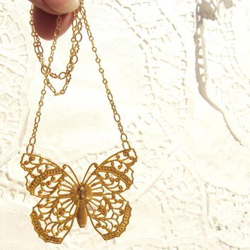 Butterfly Wings - Gold Butterfly Ne.. on Luulla