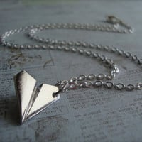One Direction - Paper Airplane - Harry Styles Inspired Unisex Paper Airplane Necklace 925 STERLING SILVER CHAIN Directioner 1D