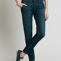 Free People Buttonfront Low Slung Skinny
