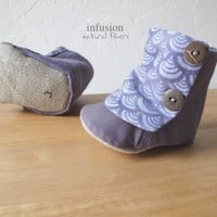 Eco Baby Boots in Purples by infusion on Etsy