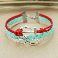 Bracelet- anchor and infinity bracelet, friends, gift for girlfriend and BFF