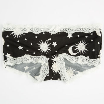 Sun Moon & Stars Boyshorts Ivory  In Sizes