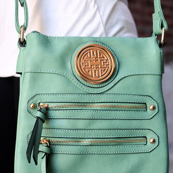 Safe Travels Messenger Bag - MINT