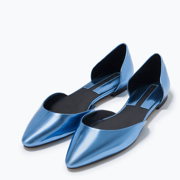 Shiny d'orsay shoes