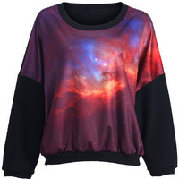 ROMWE | Mysterious Universe Print Top(Arrival on October 9th), The Latest Street Fashion