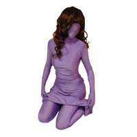 Full Body discount Halloween Purple Lycra Spandex Back Zipper Zentai Dress Costume Fancy Dress for Halloween [TWL1112260741] - 28.19 : Zentai, Sexy Lingerie, Zentai Suit, Chemise