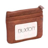 Buxton Brown Card Case w/ Removable Card Holder $12.99