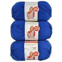 Premier Yarns 3-Pack Solid Deborah Norville Everyday Soft Worsted, Royal Blue $11.99